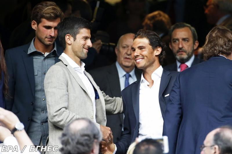 Джокович и Надал се поздравиха на Бернабеу (снимки)