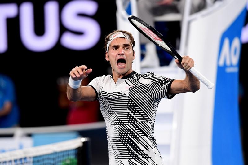 Федерер е първият, записал 200 победи над играчи от Топ 10