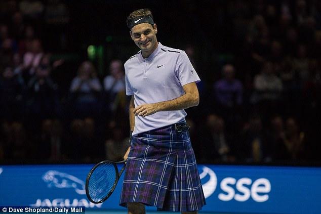 Федерер обу килт и успя да победи Мъри (видео)