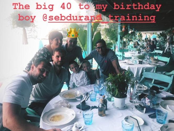 Григор уважи рождения ден на свой треньор