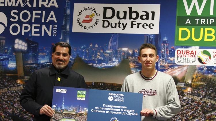 Пътуване до Дубай - голямата награда за зрителите на Sofia Open