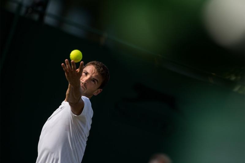 Григор Димитров бие на демо турнир