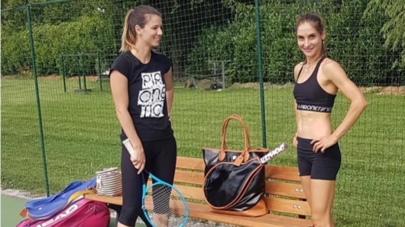 Пиронкова тренира с бивша съотборничка