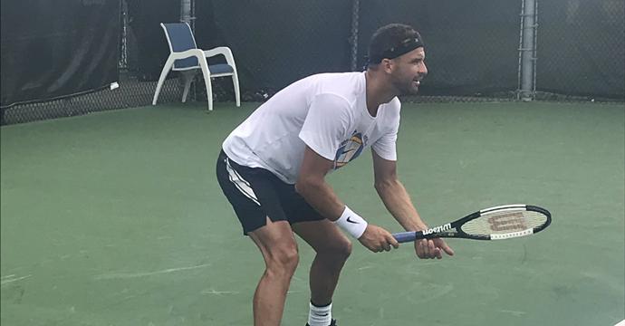 Григор тренира с Пуй в Монреал (видео)