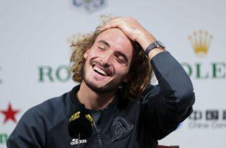 Невероятно: Циципас разбра, че ще играе в Лондон по време на интервю (видео)